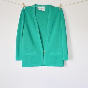 Vintage Teal Cardigan in Perfect Condition